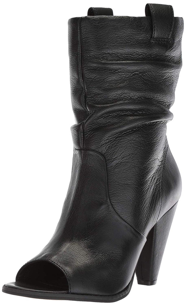 LFL by Lust For Life Cleo Slouchy Shaft  Open Toe Pull On Covered Heeled Boots