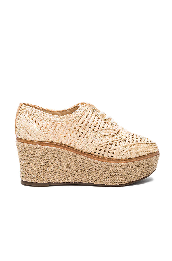 Schutz Jules Natural Nude Wedge Espadrille Fashion Sneaker