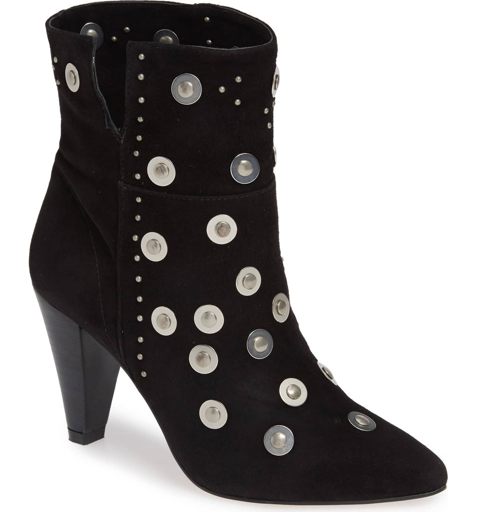 LFL by Lust For Life Casablanca Stud Bootie Black Suede Studded Booties