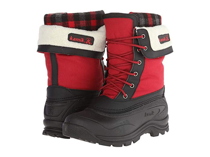 Kamik Women's Sugarloaf Red Boot Waterproof Fur Lined Snow Boots