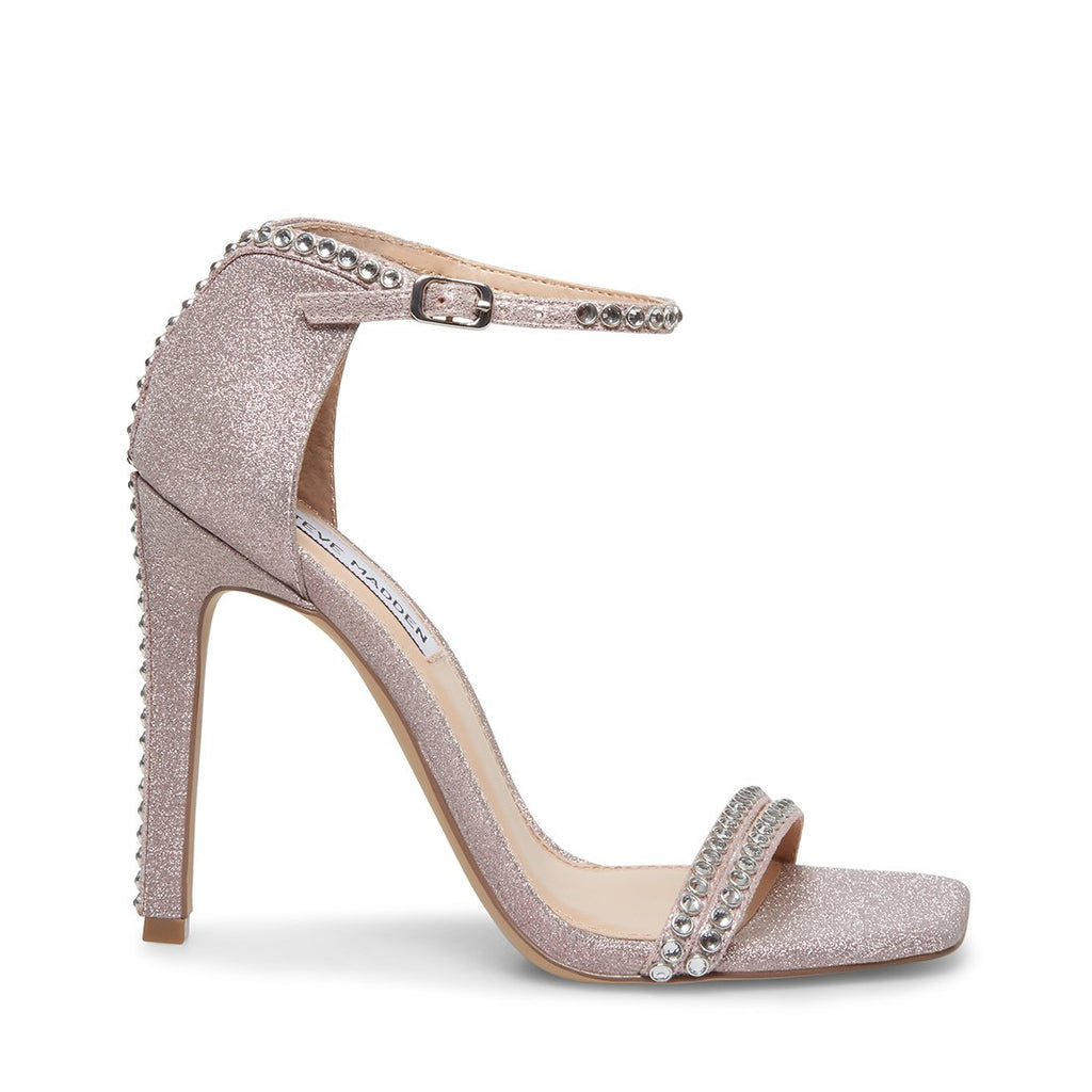 Steve Madden Women's Collette Embellished Suede Dress Sandals BLUSH GLIT