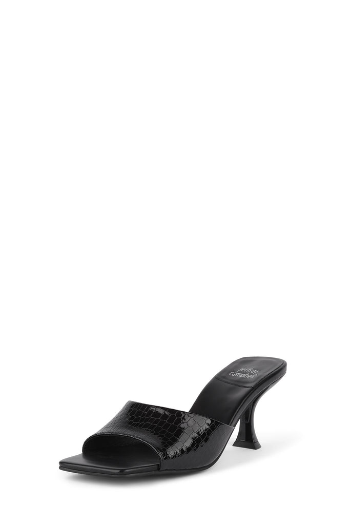 Jeffrey Campbell Mr-Big Slip-on Mules sandals Black Croco Mule Pump Sandals
