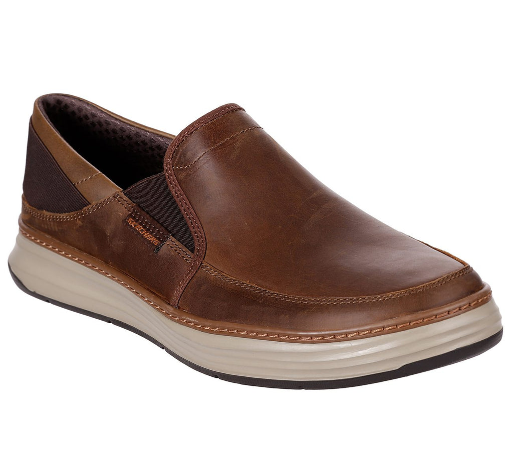 Skechers Mens Moreno-Relton Slip on Casual Comfort Loafer Shoes CHOCOLATE