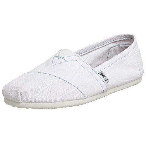TOMS Men's Classic Canvas Slip-On White Loafer Summer Casual Shoes