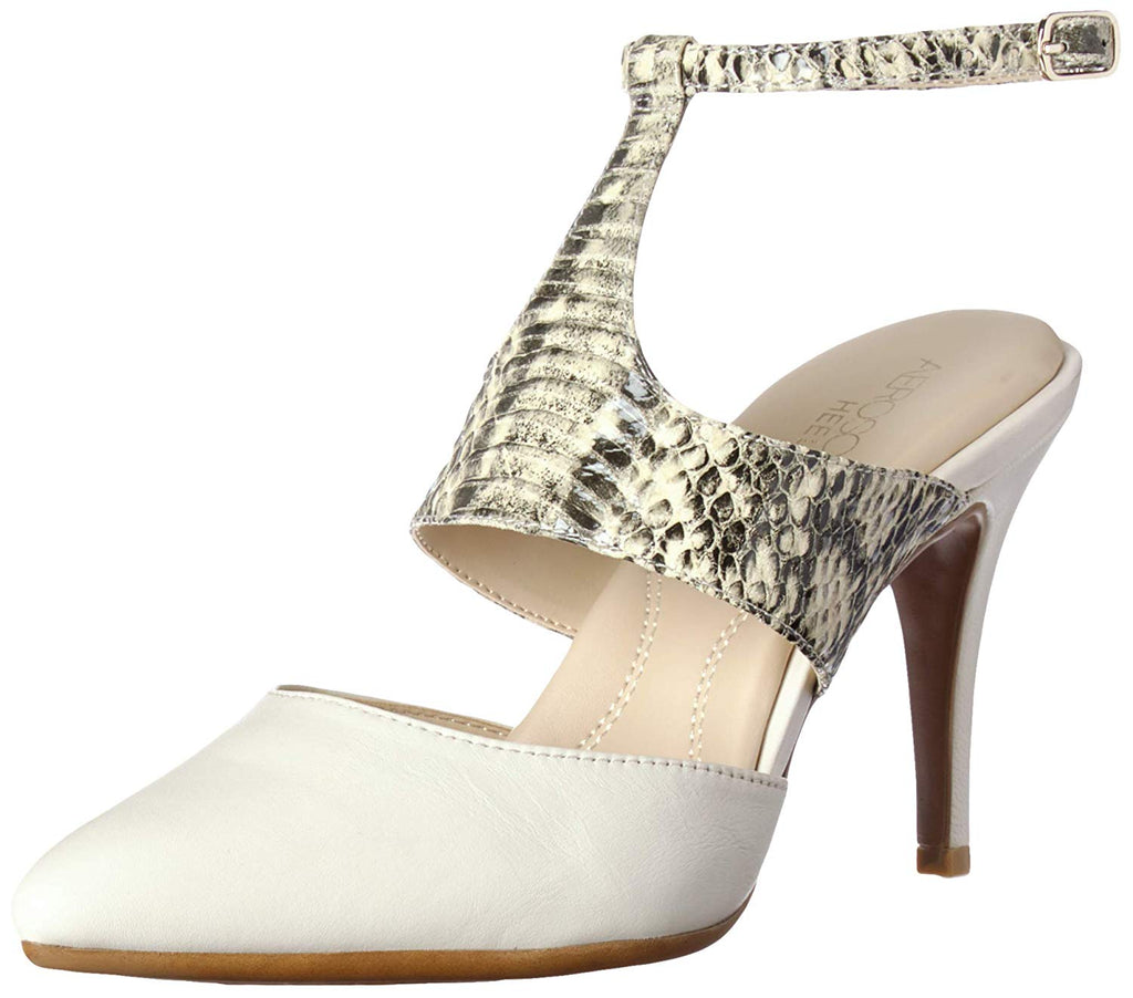 Aerosoles Bone Snake Cut Out Ankle Buckle Pointy Toe Chic Heeled Pumps