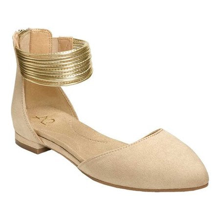 Aerosoles A2 Women's Girl Next Door Ballet Flat Nude Bone Fabric