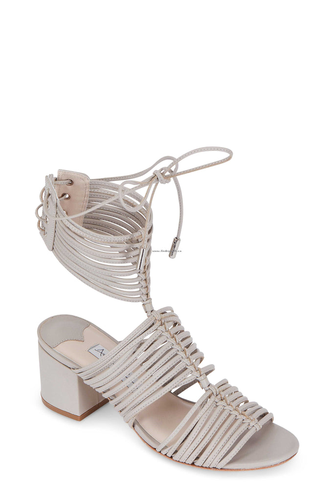 Ashley Cole Inis Clay Grey Leather Strappy Goddess Sandal