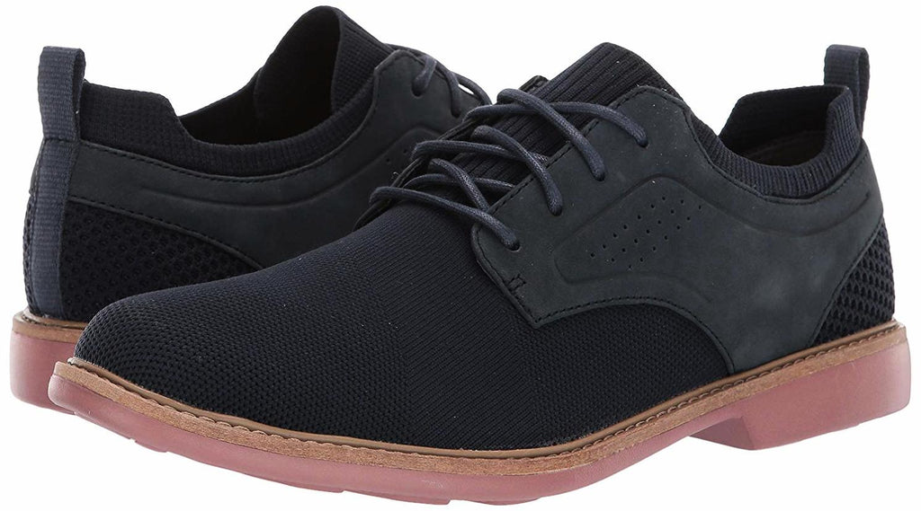 Skechers Men's CLUBMAN - WESTSIDE Fabric LACE UP Oxford Navy/Brick