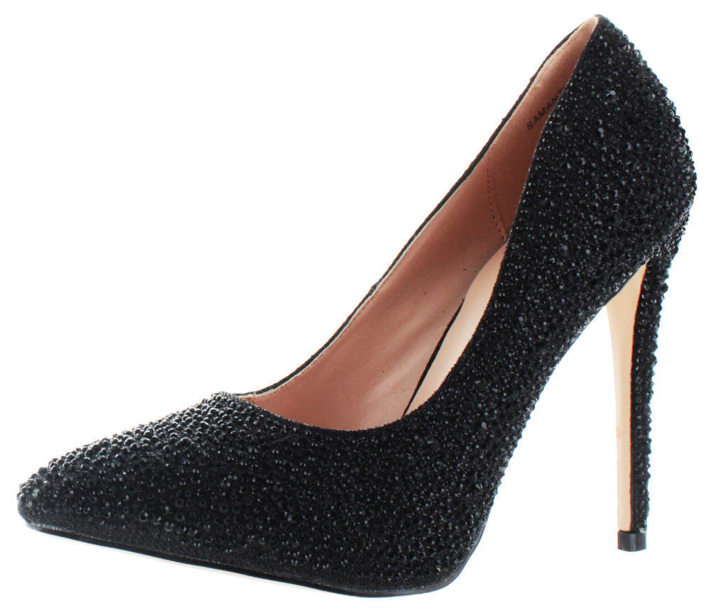 Lauren Lorraine Samantha Crystalized Pumps Dress Shoes Evening Party Shoes