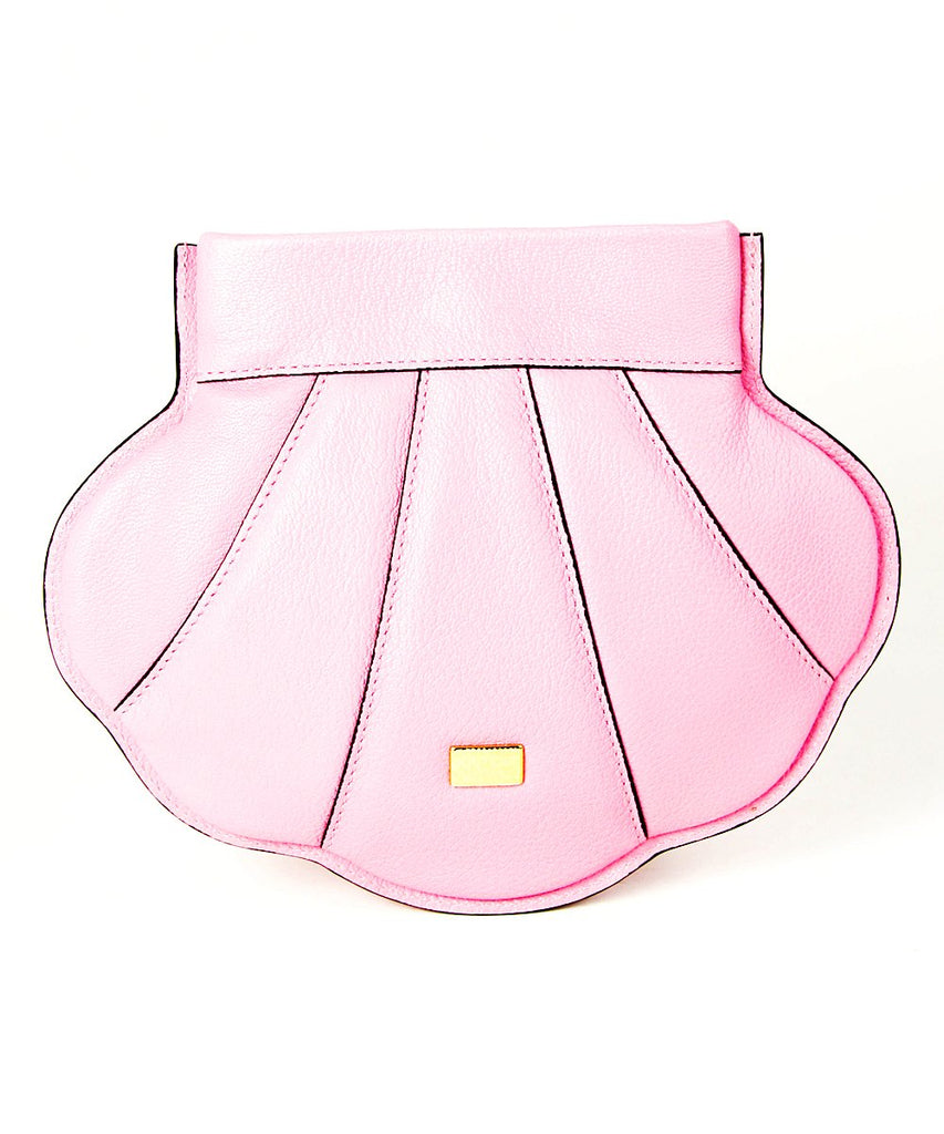 Moschino Seashell Bag Pink Leather Clutch 75148001221