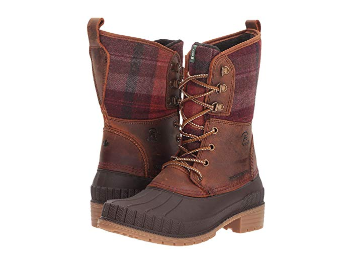 Kamik Sienna 2 Women's Boot Brown Lace Up Waterproof Snow Boots