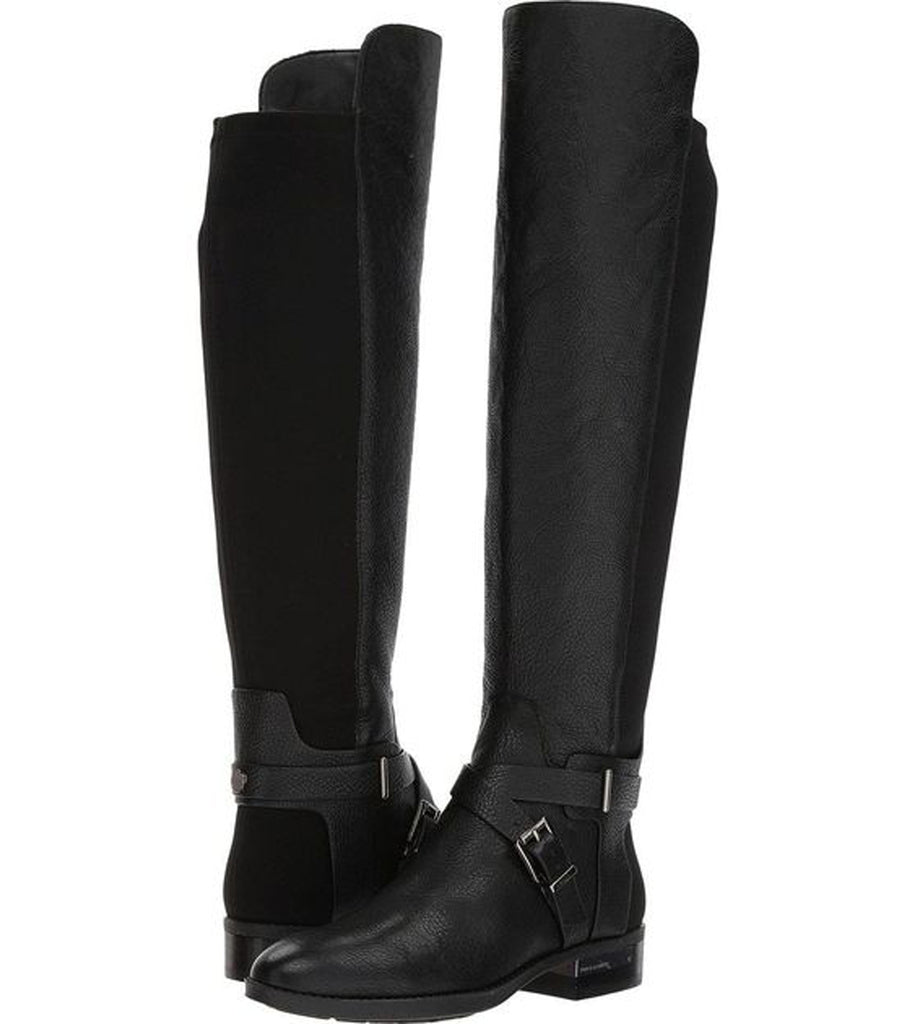 Vince Camuto Women's paton - Wide Calf Black Leather Riding Boots
