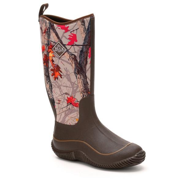 Muck Boots Women Hale Brown/Hot Leaf Camo Neoprene Waterproof Rubber Boot