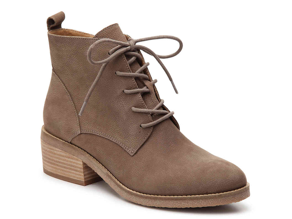 Lucky Women's LK-Tamela Fashion Boot, Brindle Taupe Lace Up Combat Boots