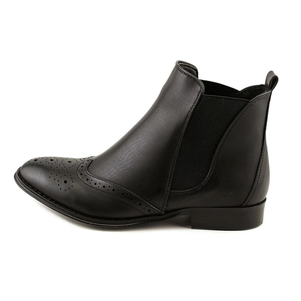 Wanted Saba Black Ankle Chelsea Gore Side Ankle Booties