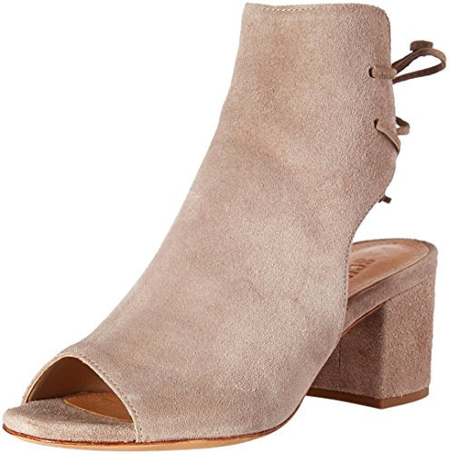 Schutz Binalia Dress Sandal Goat Taupe Open toe block heel with ankle wrap