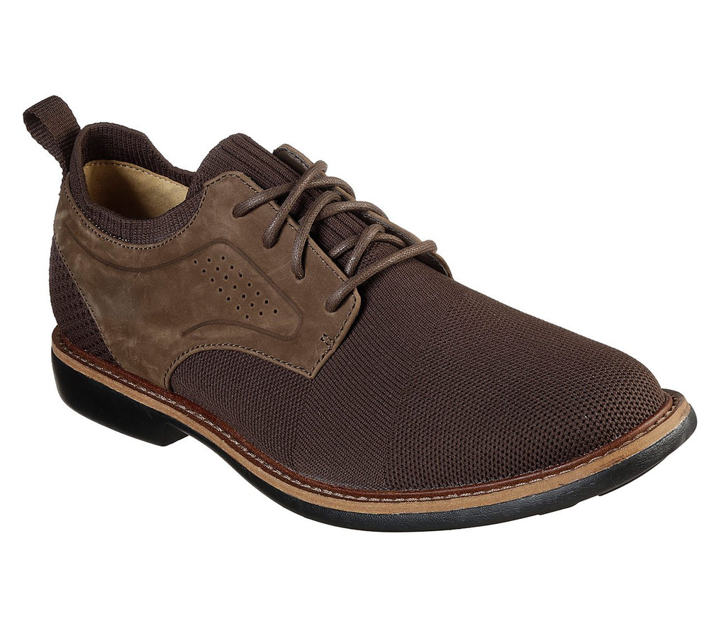Skechers Men's CLUBMAN - WESTSIDE Fabric LACE UP Oxford Brown