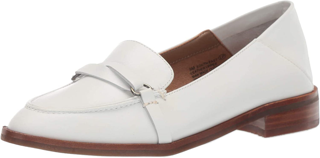 Aerosoles Women's South East White Leather Slip On Loafer Shoe
