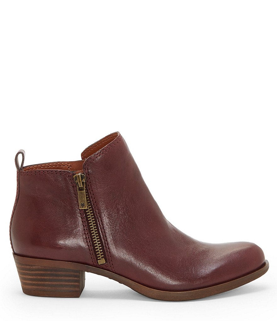 Lucky Brand Women's Basel Raisin Low Cut Ankle Booties