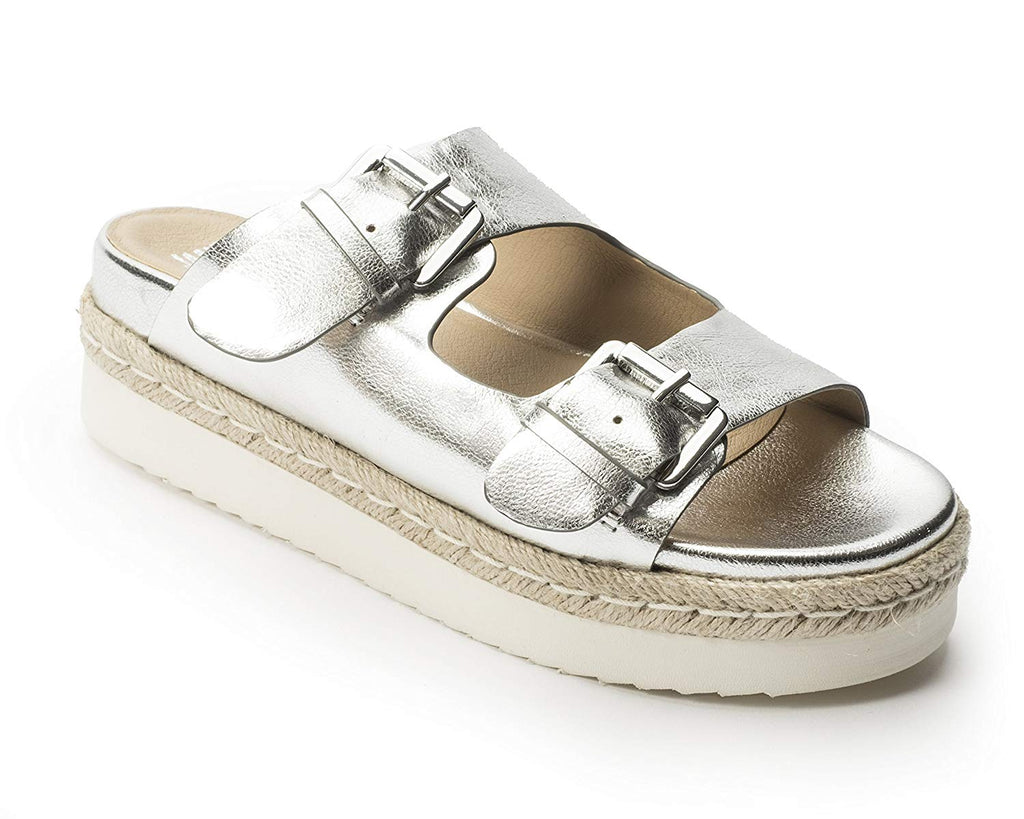Jane and the Shoe - JOJO Two Buckle Platform Sandal, Silver