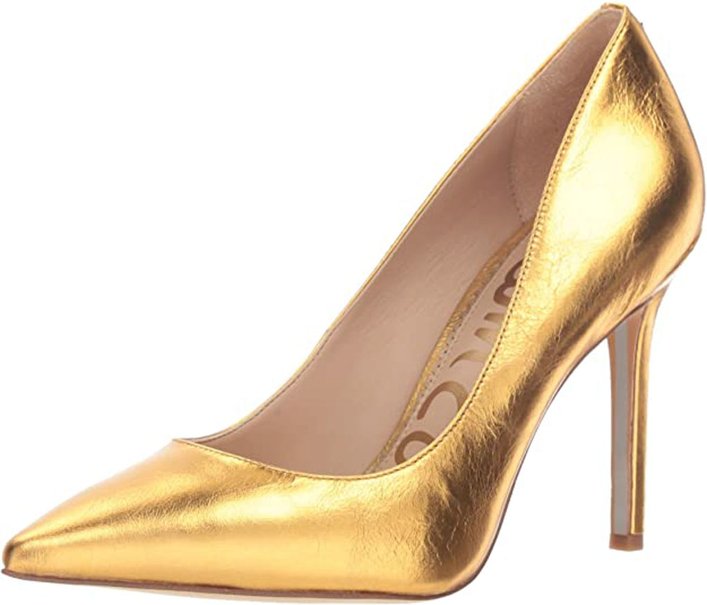 Sam Edelman Women's Hazel Pump, Exotic Gold Distressed Leather