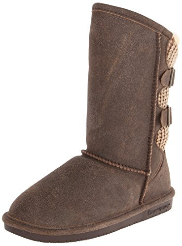 BEARPAW Women's Boshie Winter Boot, Chestnut/Distressed, 11 M US