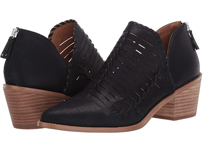 DV Dolce Vita Oscora Black Vegan Poointed Toe Western Ankle Booties