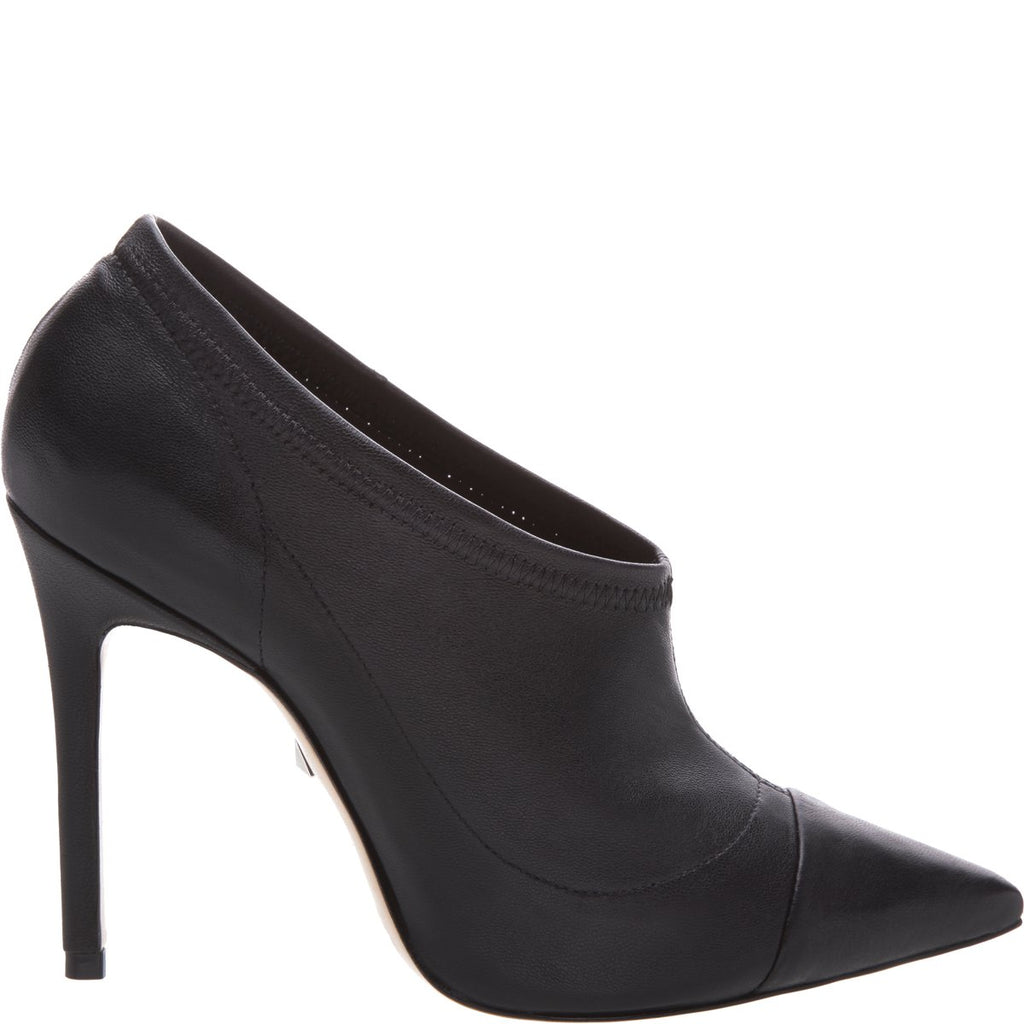 Schutz Paloma Aco Black leather high heel pointed toe dress bootie pumps