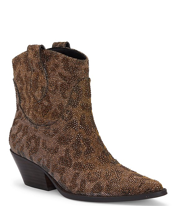Jessica Simpson Tamira2 Fashion Boot Bronze Multi Pointed Toe Western Booties