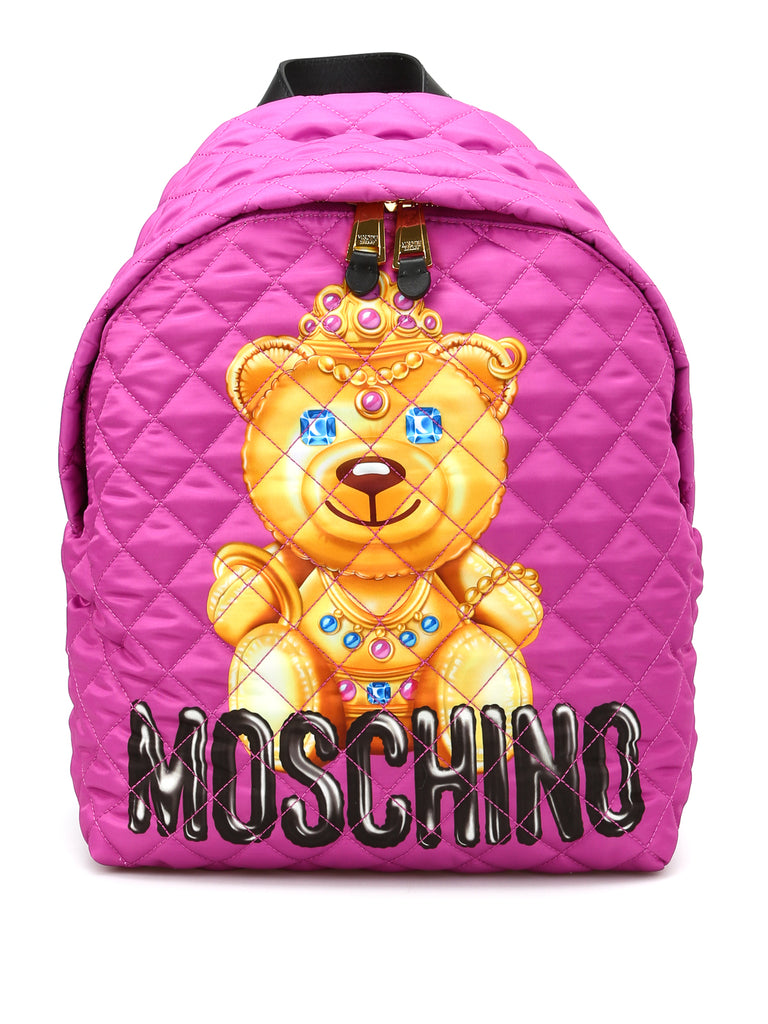 MOSCHINO JEWEL BEAR QUILTED BACKPACK 761582051244