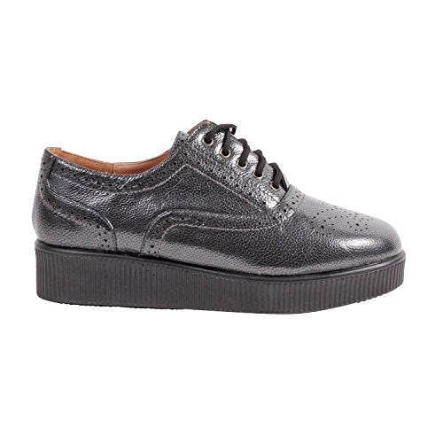 Wanted Women's Bradford Oxford  Vegan Leather Lace Up Platform