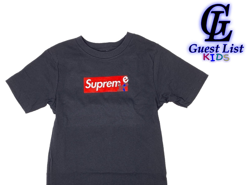 Sup Spiderman Box Logo - Blk