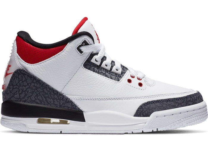 Jordan 3 SE Fire Red Denim (GS)