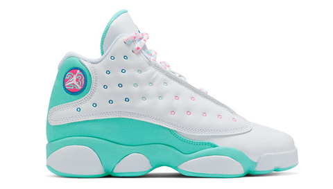 Jordan 13 Retro White Soar Green Pink (GS)