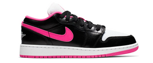 Jordan 1 Low Black White Hyper Pink (GS)