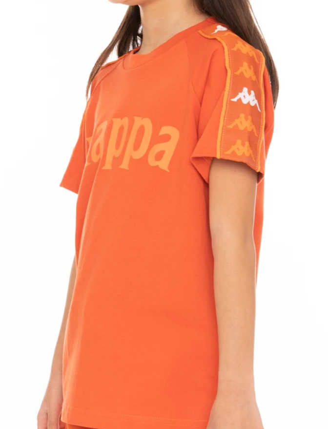 KIDS 222 BANDA DETO T-SHIRT - ORANGE WHIT