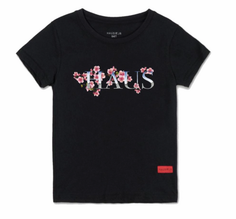 Chrome Blossom Tee - Black