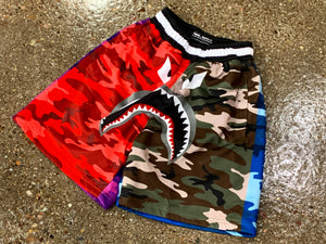 Multi color camo short
