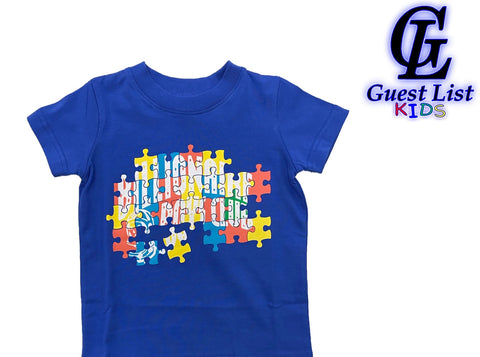 BB Puzzle SS Tee - Dazzling Blue