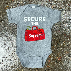 Secure the bag onesie - grey
