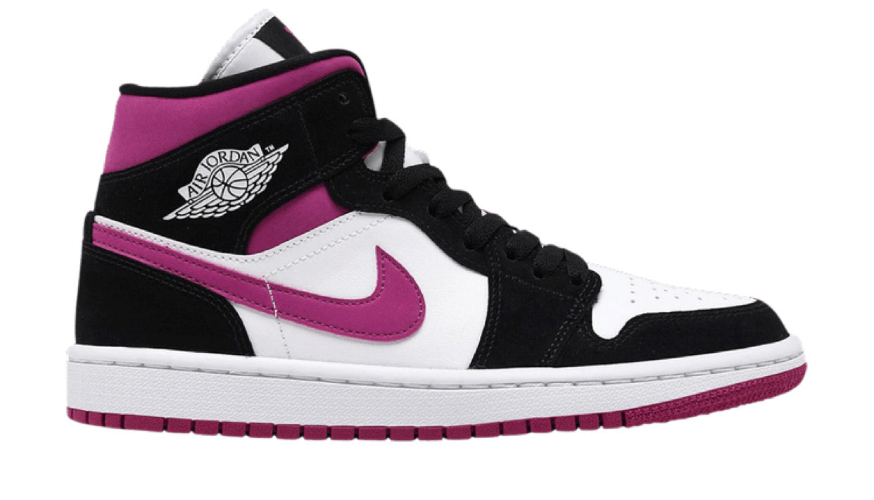 Wmns Air Jordan 1 Mid 'Black Cactus Flower'