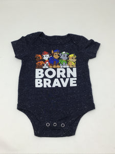Paw Patrol - Born Brave - Heather Royal Blue - Onesie