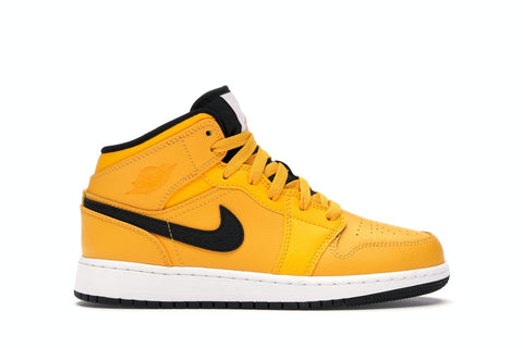 Jordan 1 Mid University Gold Black
