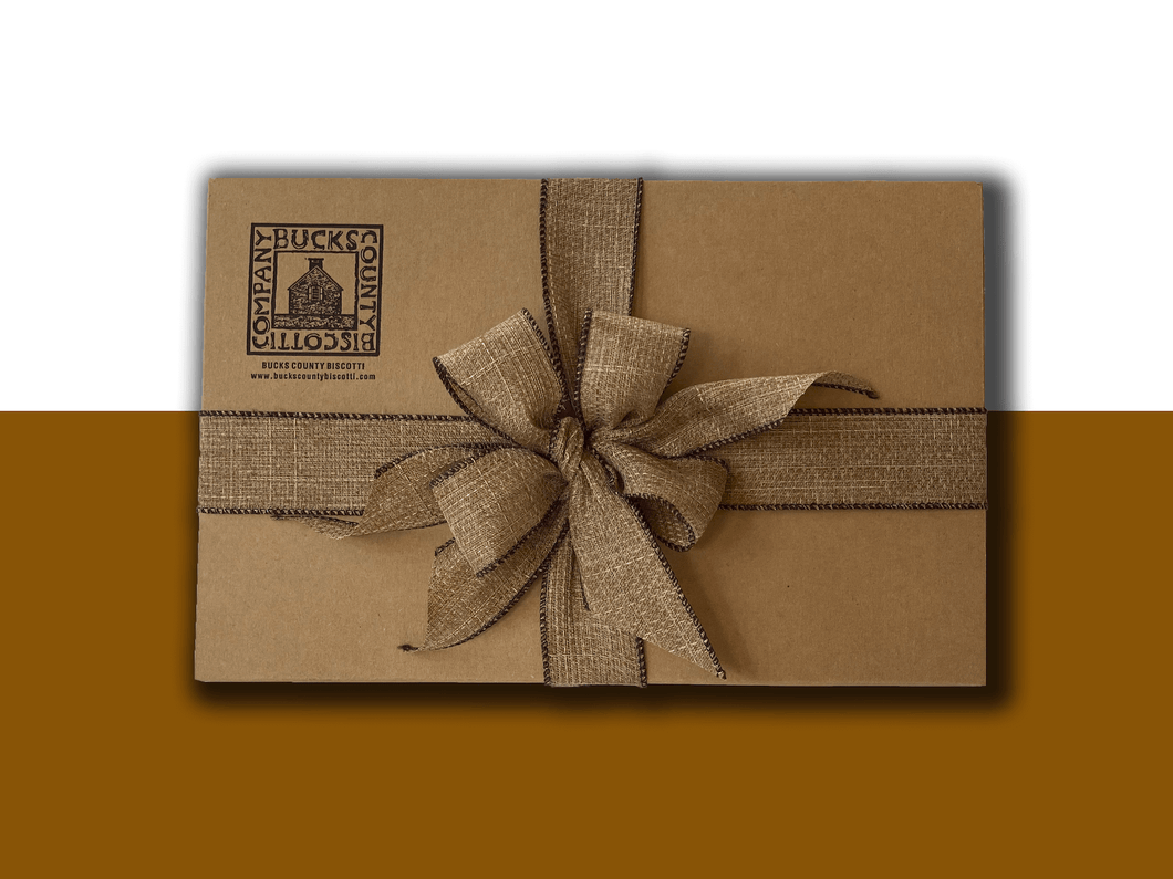 20 Piece Bucks County Biscotti Gift Box with Gift Wrapping