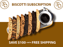 Load image into Gallery viewer, Biscotti Subscription Assorted Flavors Graphic