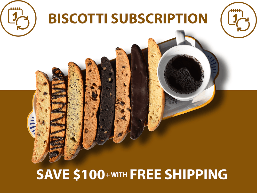 Biscotti Subscription Assorted Flavors Graphic