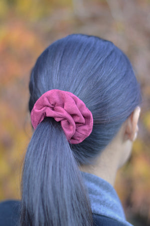 Dress your hair with fashion and function with our handmade and luxuriously velour soft scrunchies in seasonal colors. Handmade with care in Canada.