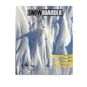 Snowboarder Vol. 32 Issue 3, November 2019, Charles Reid Cover