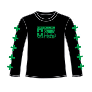 SNOWBOARDER Long Sleeve Dispensary T-Shirt