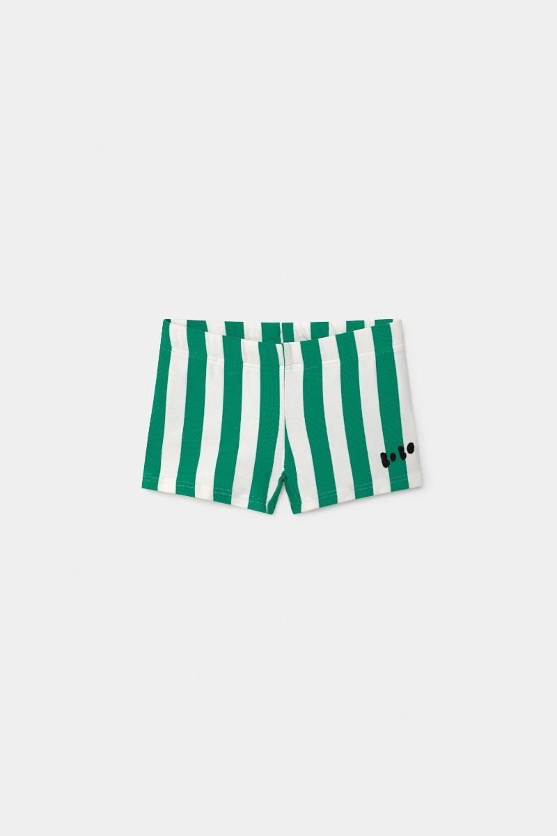 Bobo Choses Baby Green Striped Swim Boxer